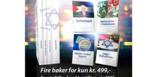 Fire bøker for kun 499,-