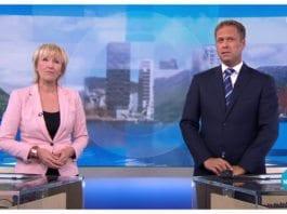 Skjermdump fra NRK Dagsrevyen 14. juli 2017.