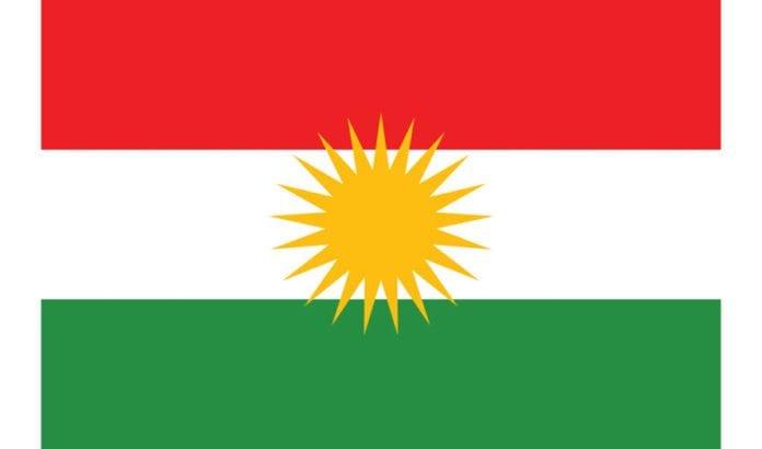Kurdistans flagg.