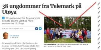 Skjermdump av artikkel publisert på Varden.no 4. august 2017.