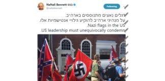 Skjermdump av Naftali Bennetts Twitter-melding.