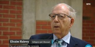 Tidligere Mossad-sjef Efraim Halevy. (Skjermdump fra NRK)