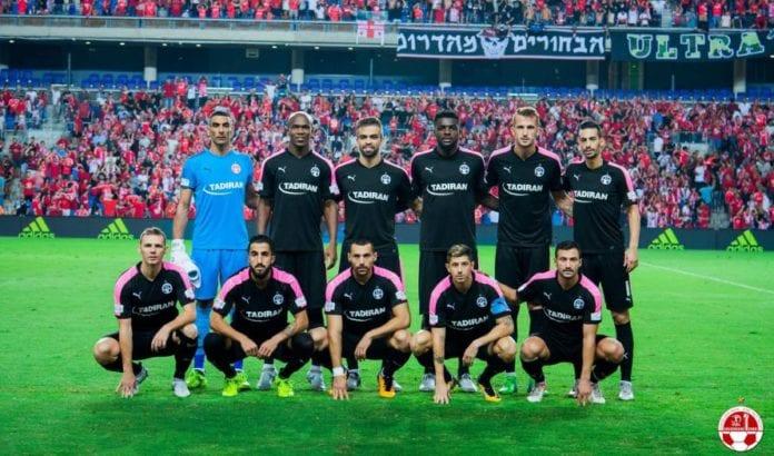 11 av spillerne fra Hapoel Beer Sheva. (Foto: Facebook)