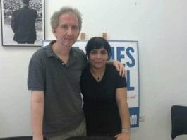 Neda Amin og David Horovitz. (Foto: Facebook)