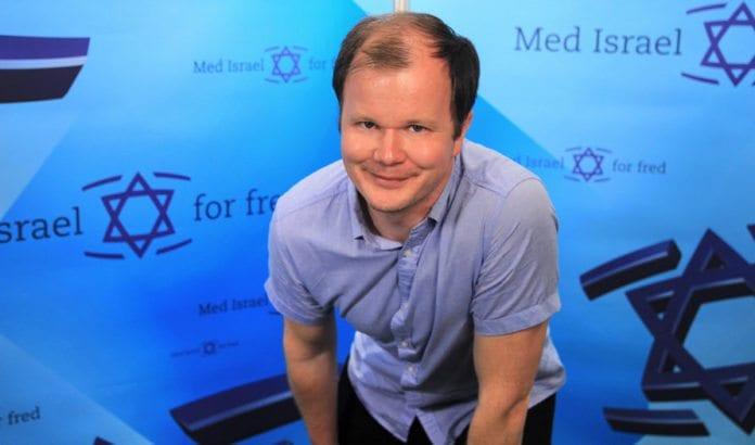 Conrad Myrland, daglig leder i Med Israel for fred (MIFF). (Foto: ShaperMedia.se)