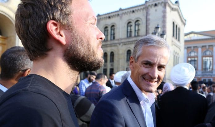 Audun Lysbakken (SV) og Jonas Gahr Støre (Ap). (Foto: Bernt Sønvisen, Ap, flickr)