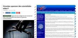 Tankegodset til norske nynazister og norske islamister om jøder er det samme. (Skjermdump fra frihetskamp.net og islam.no)