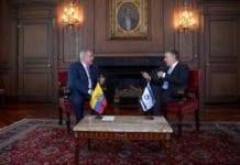 Benjamin Netanyahu i møte med Colombias president Juan Manuel Santos. (Foto: Avi Ohayon/Flickr)