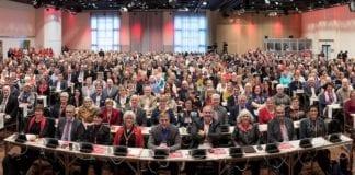 Landsmøtet til Fagforbundet gikk inn for Israel-boikott og anerkjennelse av «Palestina». (Foto: Trond Isaksen)