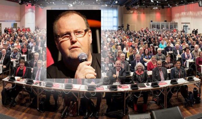 Osvald Fyllingen fra Fagforbundet i Hordaland var den eneste som stemte imot boikott av Israel på Fagforbundets landsmøte. (Foto: Trond Isaksen/ Privat)
