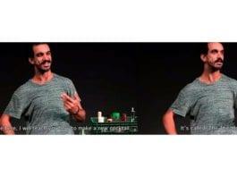 Morad Hassan i teaterstykket Shame. (Skjermdump fra YouTube)