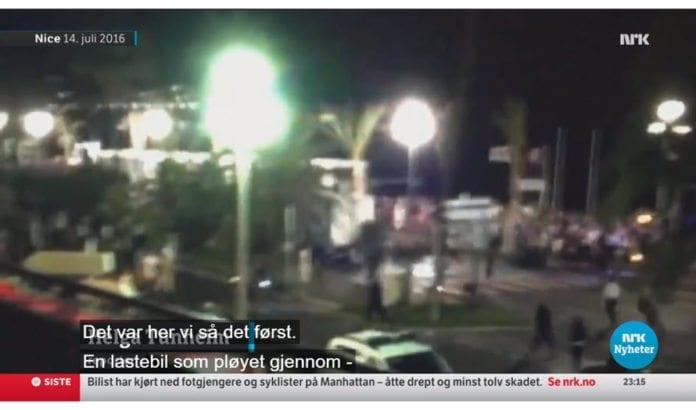 Skjermdump fra NRK Kveldsnytt 31. oktober 2017.