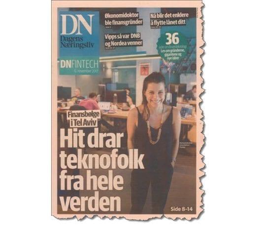 Faksmile fra Dagens Næringsliv 6. november 2017.