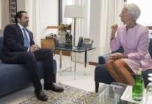 Saad Hariri har trukket seg som libanesisk statsminister. Her i møte med lederen for det Internasjonale pengefondet, Christine Lagarde, tidligere i år. (Foto: Stephen Jaffe/Flickr)