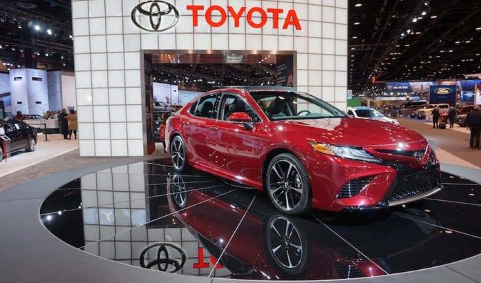 Vil det japanske bilmerket Toyota nå havne på listen til de som vi boikotte Israel? Her fra lanseringen av et nytt produkt på bilmessen i Chicago. (Foto: Chicago Auto Show)