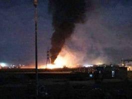 Ifølge libanesiske medier har Israel bombet en våpenfabrikk i Homs i Syria. (Foto: Twitter)