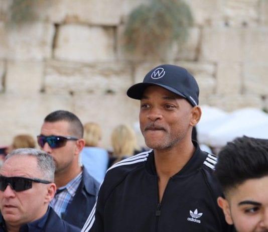 Hollywood-stjernen Will Smith dukket uanmeldt opp i Jerusalem. (Foto: The Western Wall Heritage Foundation)