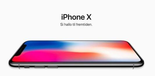 Slik ser en iPhone X ut. (Skjermdump fra Apple.no)