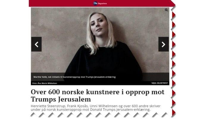 Skjermdump fra Dagsavisen.no.