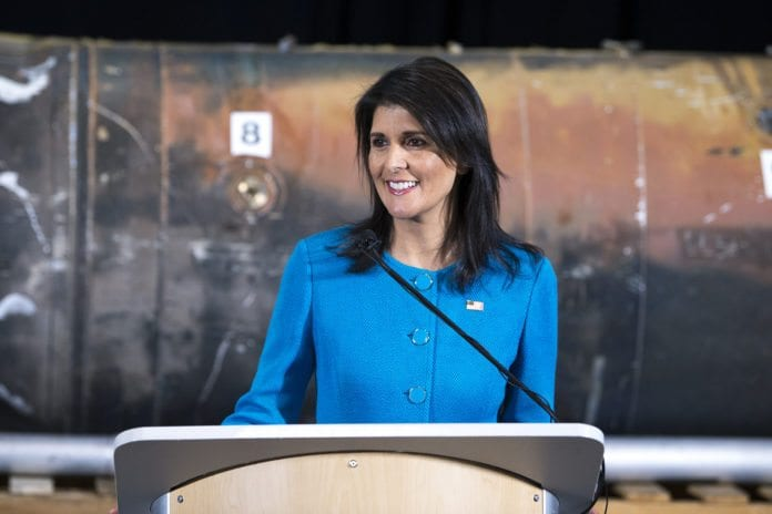 USAs FN-ambassadør Nikky Haley. (Foto: EJ Hersom/Flickr)