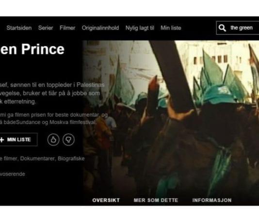 Slik presenteres filmen The Green Prince hos Netflix.