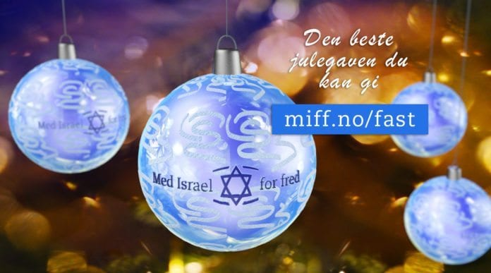 Bli Fast for Israel! - Det er den beste julegaven du kan gi til MIFF.
