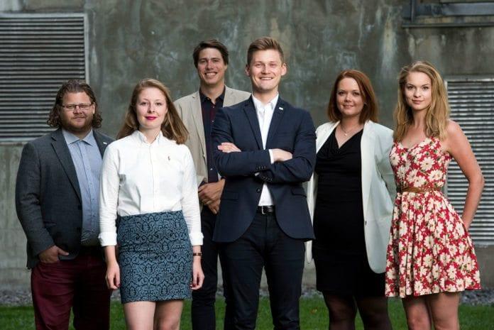 Arbeidsutvalget i Norsk studentorganisasjon. (Foto: Skjalg Bøhmer Vold, nso.no)