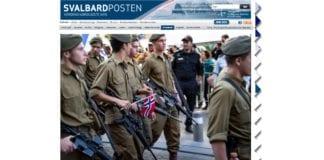 Soknepresten på Svalbard liker ikke å se israelske soldater med norske flagg. (Skjermdump fra svalbardposten.no.)