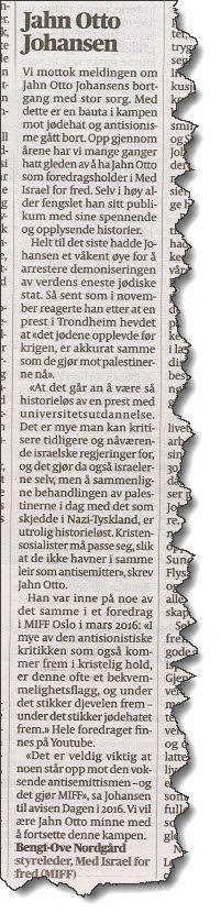 Faksmile fra Aftenposten 9. januar 2018.