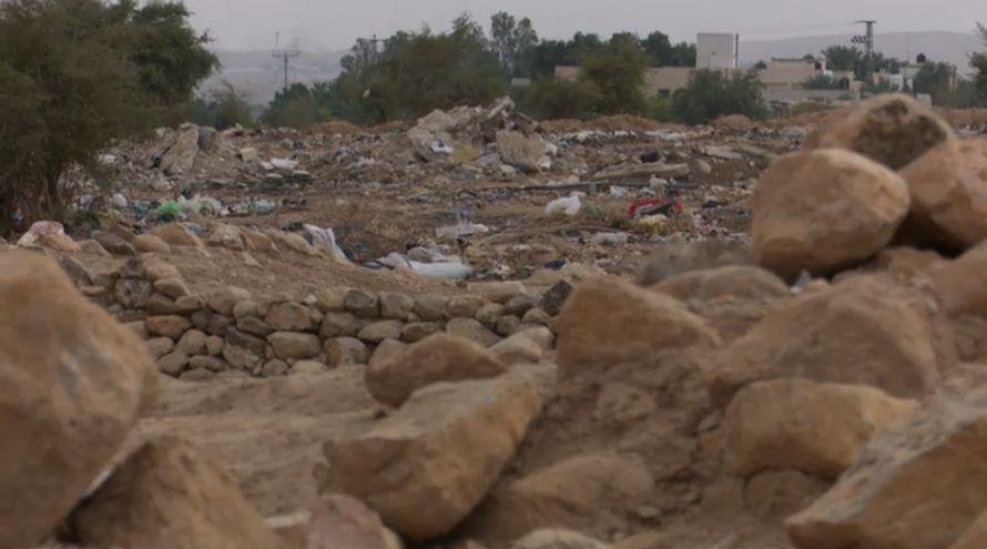 Området oversvømmes av søppel. (Foto: Skjermdump fra Hadashot)