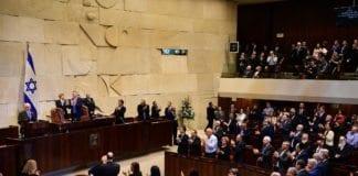 USAs visepresident Mike Pence talte foran israelske politikere i Knesset. (Foto: Amos Ben Gershom/Flickr)