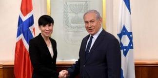 Ine Eriksen Søreide møtte Benjamin Netanyahu søndag 7. januar 2018. (Foto: GPO/Flickr)