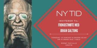 Skjermdump fra Facebook-invitasjonen til frokostmøtet med Johan Galtung.