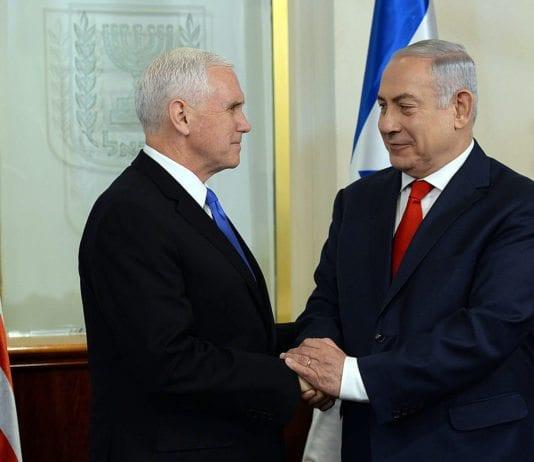 Statsminister Benjamin Netanyahu ønsker USAs visepresident Mike Pence velkommen til Jerusalem 22. januar 2018. (Foto: Haim Zach, GPO, flickr)