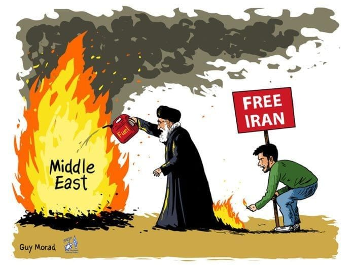 Dette er en av karikaturene som ble for sterk kost for Europaparlamentet. (Karikatur: Guy Morad)