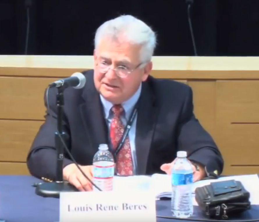 Professor Louis René Beres. (Foto: Skjermdump fra Youtube)