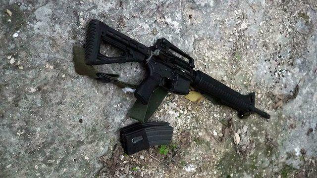 Automatgeværet brukt av terroristen Ahmed Nasser Jarrar. (Foto: IDF)