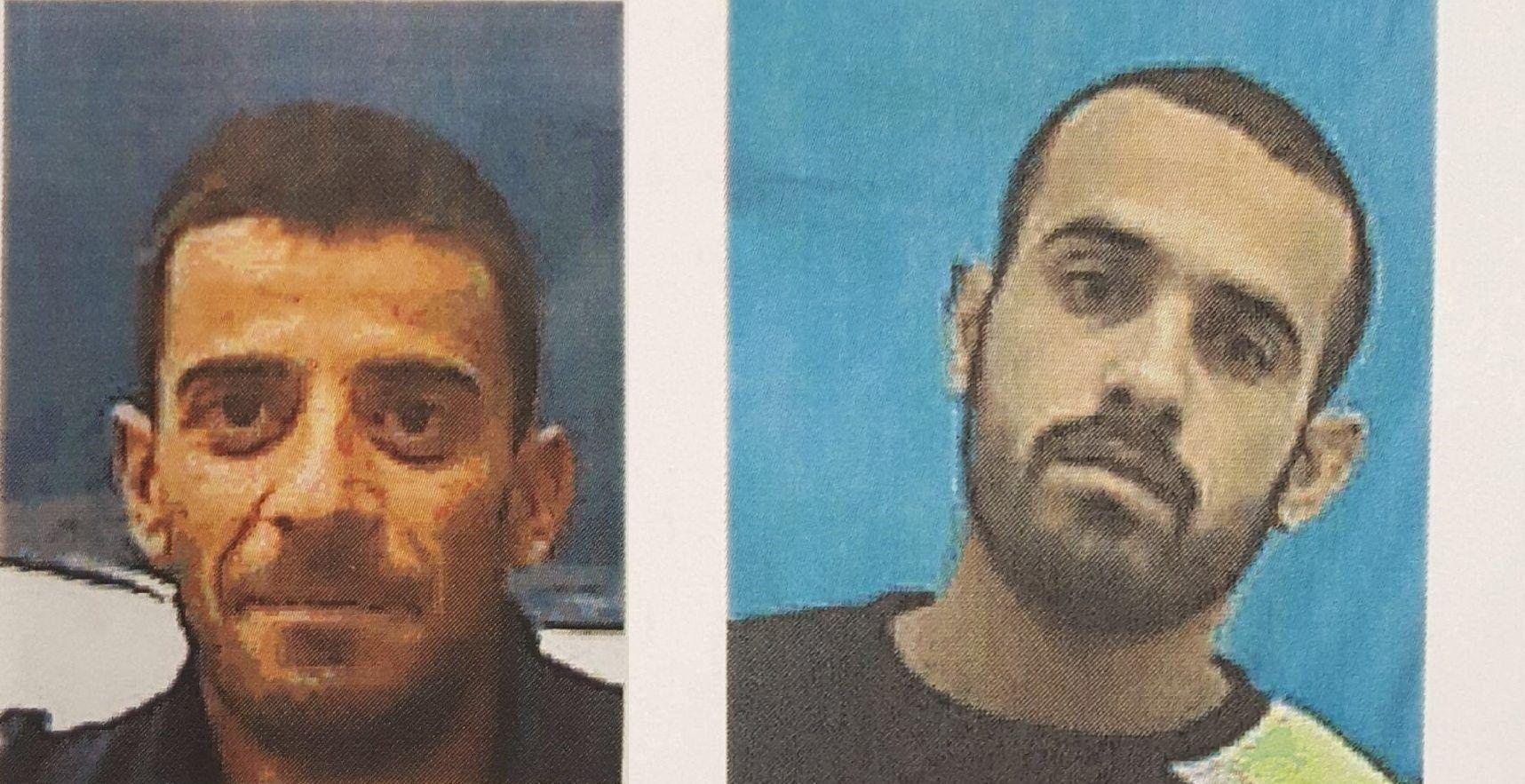 Muhammad Ali Ibrahim al-Askara og Awad Mahmoud al-Asakra ledet terrorcellen. (Foto: Shin Bet)