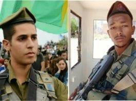 De to israelske soldatene Eshto Tespo (t.v.) og Bar Yakubian mistet livet i trafikkulykken. (Foto: IDF)