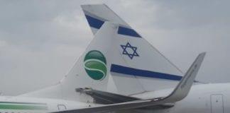 Skjermdump fra videoopptak av israelske luftfartsmyndigheter.