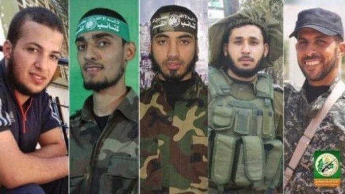 Fem av de drepte var soldater i den islamistiske terrorgruppen Hamas.