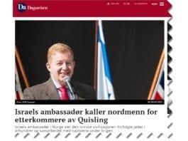 Skjermdump fra Dagsavisen.no 3. april 2018.