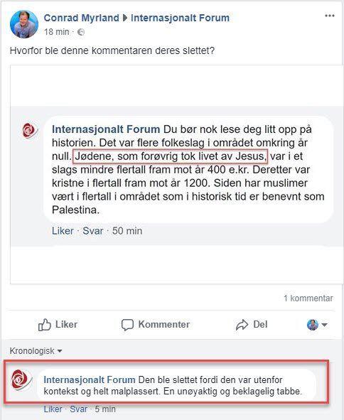 Skjermdump fra Facebook-siden.