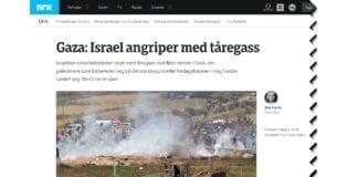 Skjermdump fra nrk.no kl. 14.30 fredag 6. april 2018.