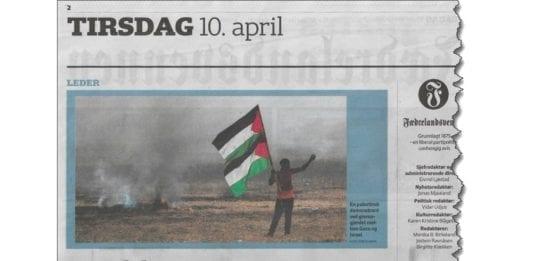 Faksmile fra Fædrelandsvennen tirsdag 10. april 2018.