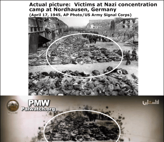 Det originale og PA TVs manipulerte bilde.