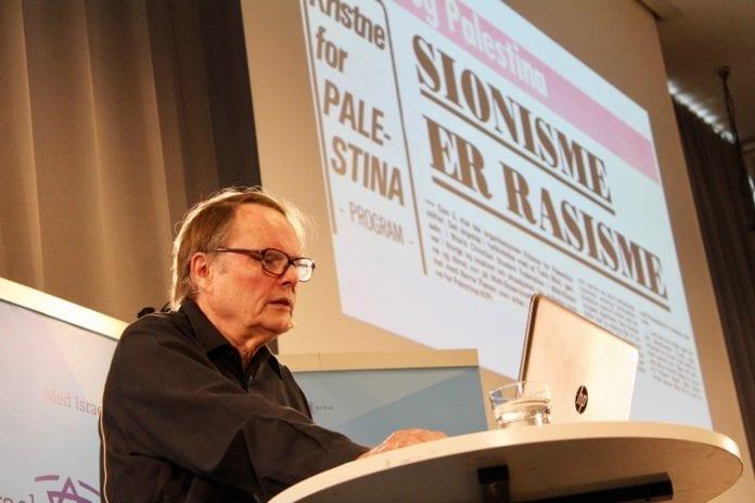 Olav Vidar Landsverk holdt et innlegg om antisionismen i den norske kirke. (Foto: Bjarte Bjellås)