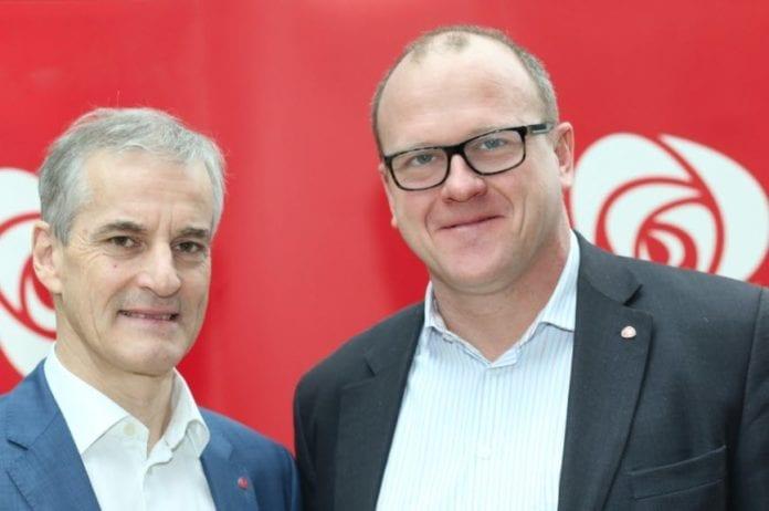 Frode Jacobsen, leder i Oslo Arbeiderparti, sammen med partileder Jonas Gahr Støre. (Foto: Bernt Sønvisen, flickr)