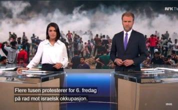 Skjermdump fra NRK Dagsrevyen 4. mai 2018.