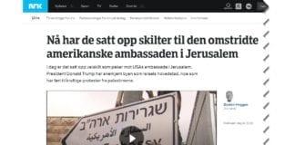 Skjermdump fra Nrk.no mandag 7. mai 2018.